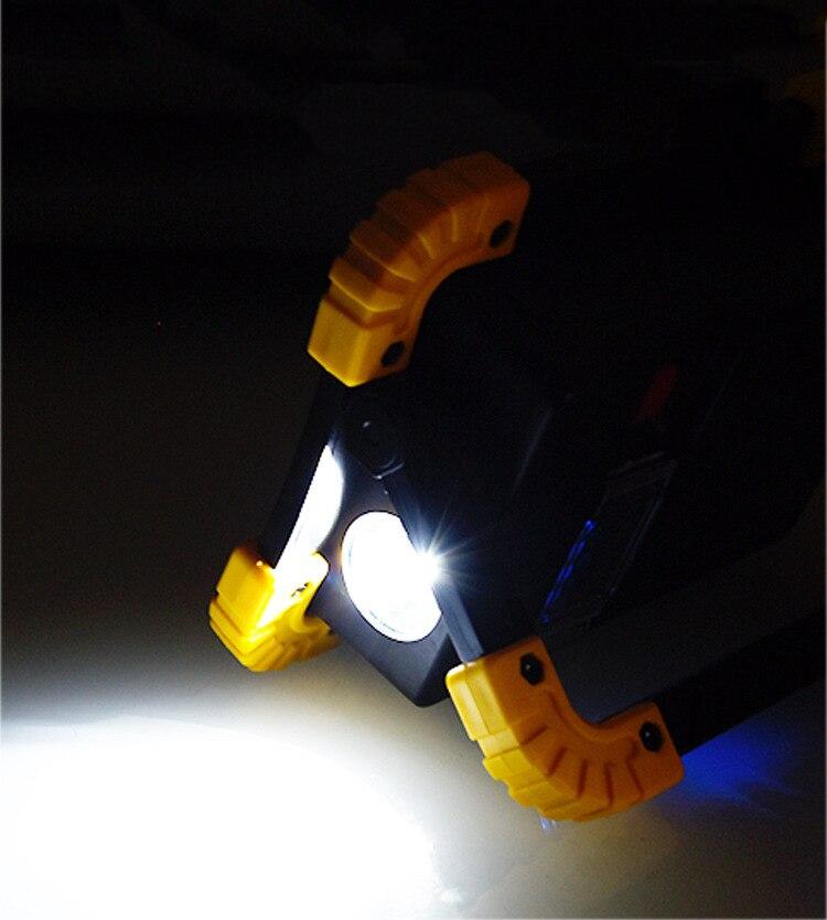 emergência portátil holofote recarregável para acampamento luz