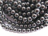 Hohe qualität 5 stränge 2-10mm natürliche Hämatit edelstein runde kugel silber gold gunmetal gemischter lose perle