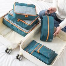 7pcs Portable Travel Storage Bags Clothes Shoes Organizer Cosmetic Toiletry Pouc