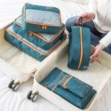 Шт. 7 шт. портативный путешествия сумки для хранения одежда обувь Организатор косметических несессер сумка комплект для багажа интимные аксесс