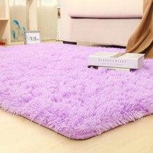 Tapetes roxo grosso antiderrapante, rosa, 14 cores, para banheiro, área para sala de estar, macio tapetes de quarto infantil