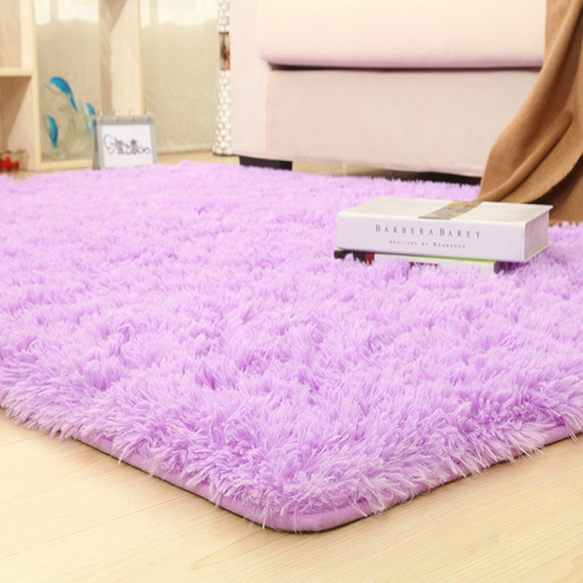 14 Colors Solid Rugs Pink Purple Carpet Thicker Bathroom Non Slip Mat Area  Rug For