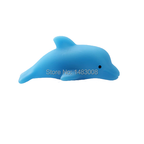 Strong-Toyers Baby Bath Toy Colorful LED Flashing Dolphin