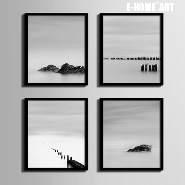 Nordic style Art Print Framed Canvas Painting Art Water Stone ...