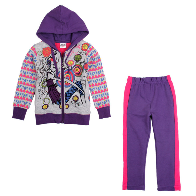 nova kids sports causal style gilr autumn/winter clothes sets prited fashion girl and patten girl coat sets high sale suits 2014 spring autumn new fashion girls sports suits zipper coat trousers flowers print big girl clothes sets children sportswear