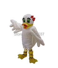mascot White Female Duck Mascot Costume custom fancy costume anime cosplay kits mascotte theme fancy dress carnival costume