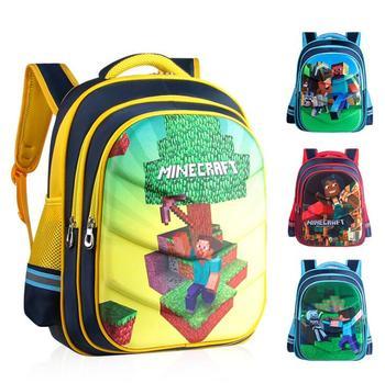 326dcdc8cd61b Çizgi film Oyun Minecraft Erkek Kız Bebek Çocuk Anaokulu Kreş okul çantası  Sırt Çantası Okul Çantaları Tuval Çocuk Öğrenci Sırt Çantaları