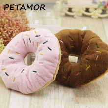 PETAMOR Lovely Donuts Pet Dog Toy Puppy Cat Squeaker Sound Toy Cute Chew Toys For Dogs Christmas Sound Toys Dog Supplies