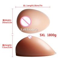 1800g fake silicone breast form for man crossdressing transgender boob prosthesis realistic big F cup