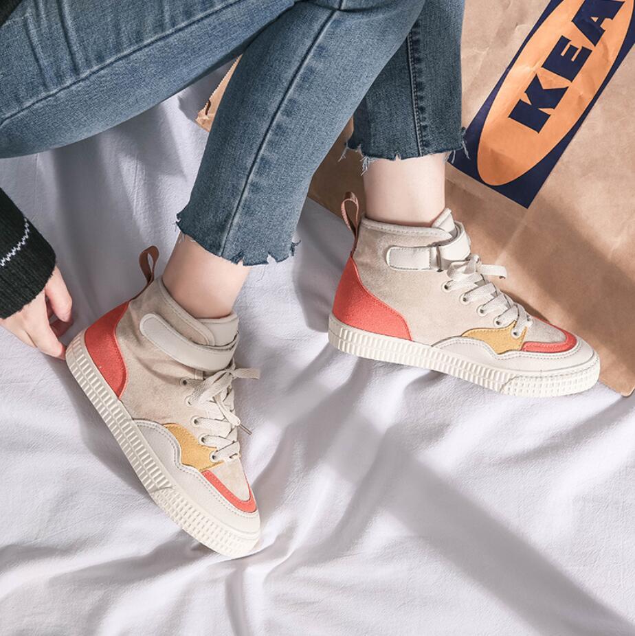 XCZJ 2019 autumn and winter new Martin boots female students Korean version of cotton shoes plus velvet women's shoes boots 23