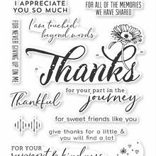 Thanks flower Transparent Clear Stamps / Silicone Seals for DIY scrapbooking photo album/Card Making