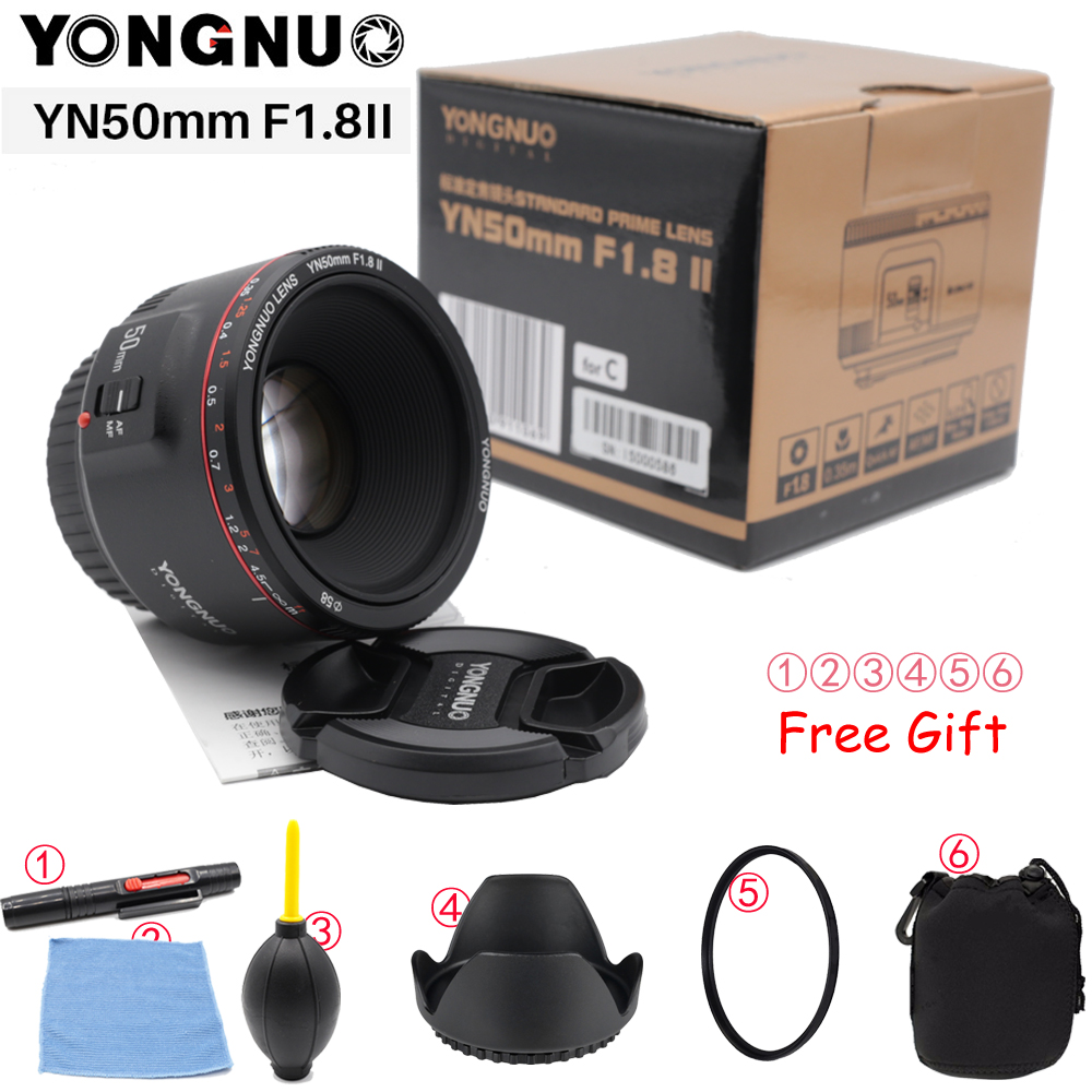 YONGNUO YN50mm F1.8 II большая апертура Автофокус Объектив для Canon Bokeh эффект камеры объектив для Canon EOS 70D 5D2 5D3 600D DSLR