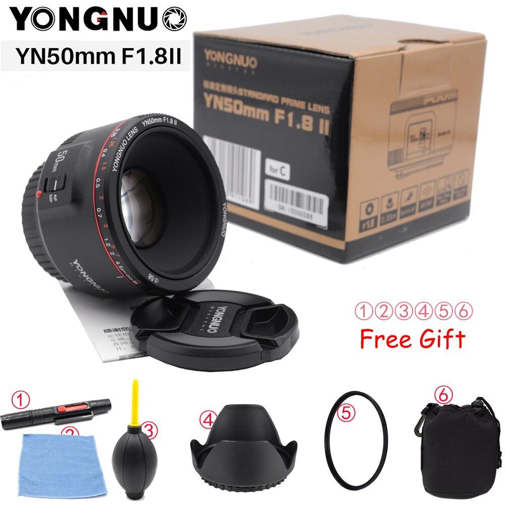 YONGNUO YN50mm F1.8 II de gran apertura de lente para Canon efecto Bokeh Cámara lente para Canon EOS 70D 5D2 5D3 600D DSLR