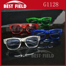 Светодиодный проблесковый маячок очки light up очки светодиодные очки EDM EDC Rave вечерние бар Eyeswear аксессуар солнцезащитные очки