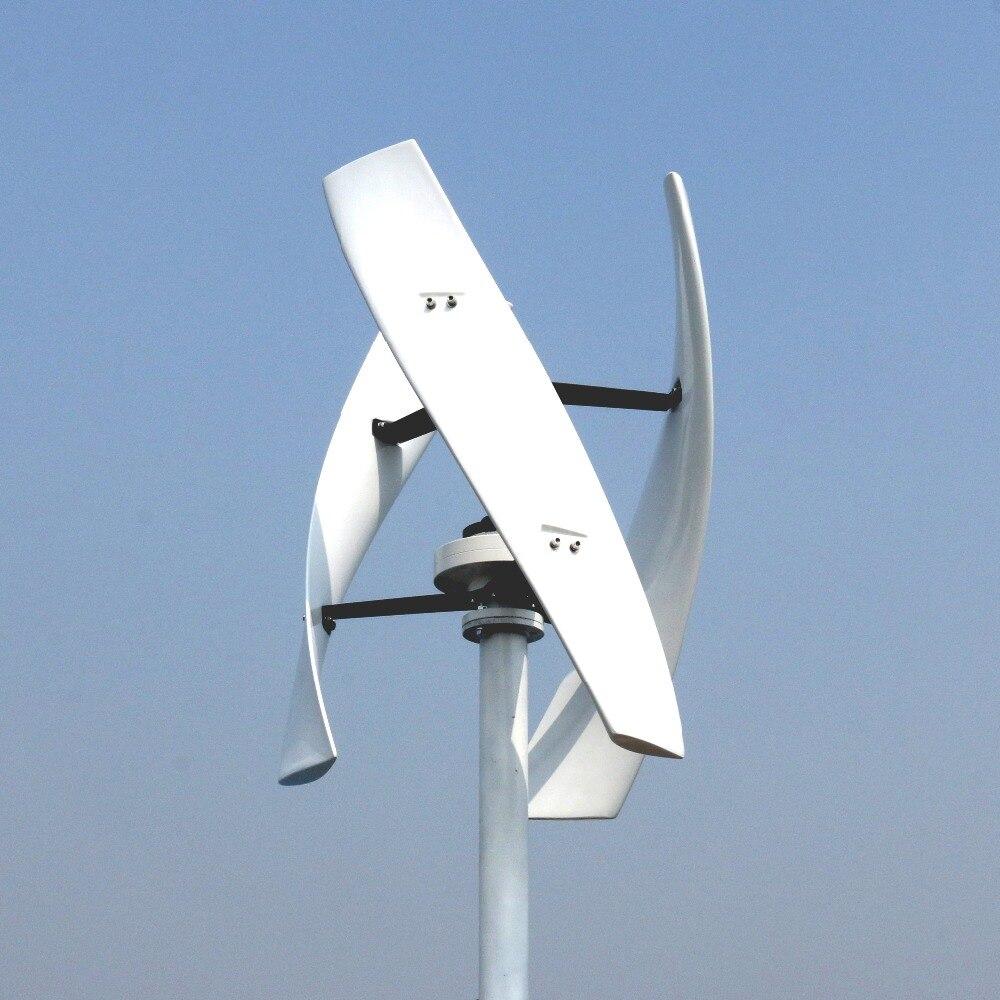 600 W 12 V 24 V spirale éolienne générateur rouge/blanc VAWT axe Vertical énergie résidentielle avec contrôleur de chargeur MPPT/PWM