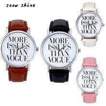 snowshine 10 Leather Band Analog Quartz Vogue Wrist Watch free shipping