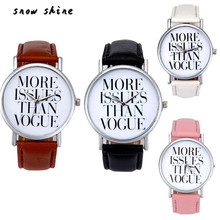 snowshine #10    Leather Band Analog Quartz Vogue Wrist Watch  free shipping
