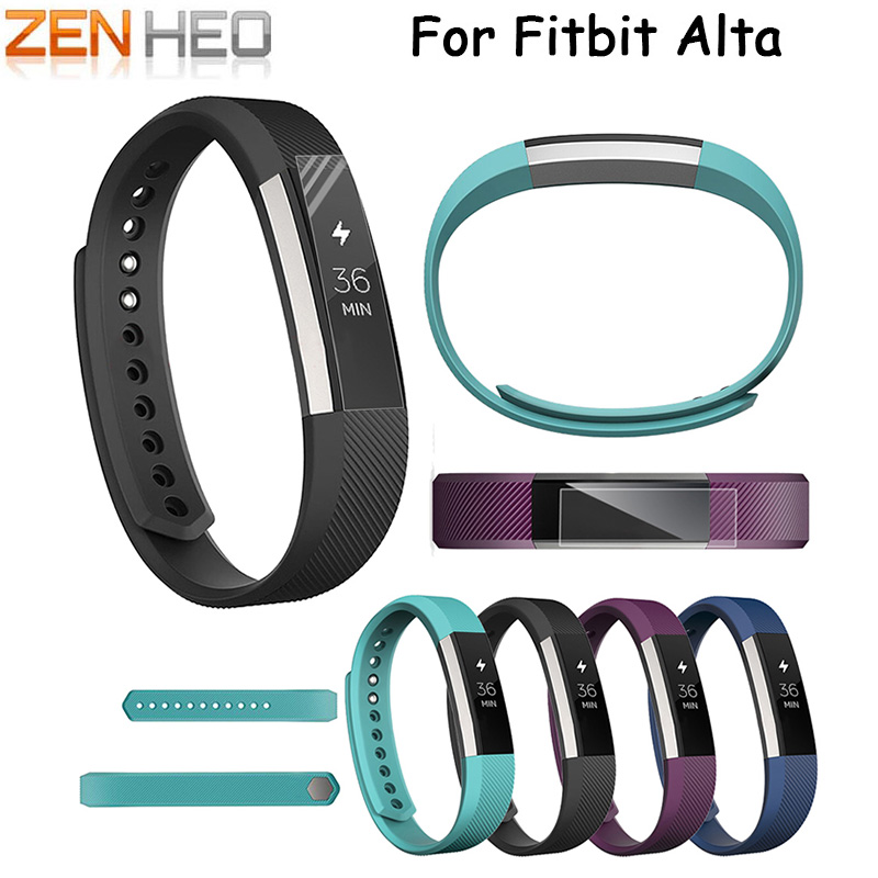 ZENHEO 2018 Hot Sale New Fashion Watches Replacement Wrist Watch Band Silicon Strap Clasp For Fitbit Alta Watch High Quality replacement accessory metal watch bands bracelet strap for fitbit alta fitbit alta hr fitbit alta classic accessory band