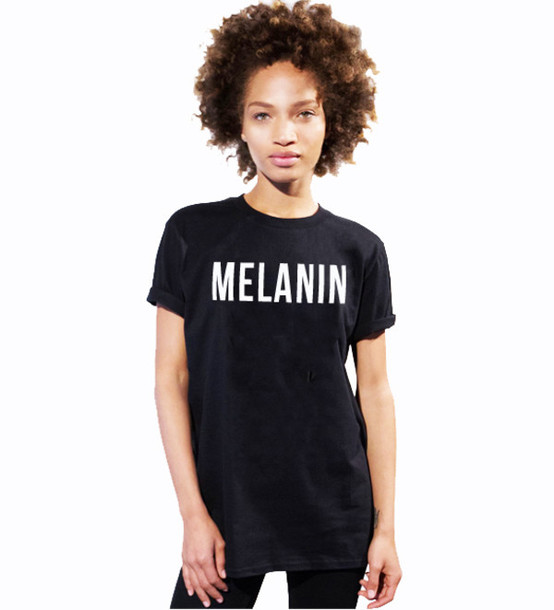 779a2c36f12cbc MELANIN Letter Print T-Shirt Women Sexy Tops tees tshirts Summer Style t  shirt Free Shipping