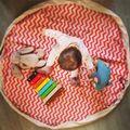 Новое поступление полосой 140 см холст игры ковров играть коврик ребенок играть ковер игрушки для хранения подарков в наличии