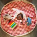 New Arrival Stripe Kids 140cm Canvas Game Carpet Play Mat Child Play Rug Toy Storage Bag Gift In Stock