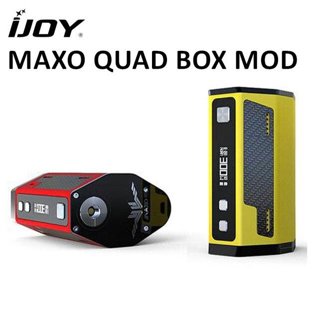 IJOY maxo Quad 18650 315 Вт поле mod VAPE Контроль температуры прошивки электронная сигарета испаритель (без Батарея) IJOY maxo Quad для VAPE