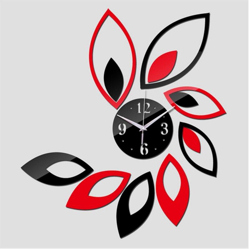 2018 New Quartz Wall Clocks Modern Design Reloj De Pared Large Decorative Clocks 3d Diy Acrylic Mirror Living Room Free Shipping