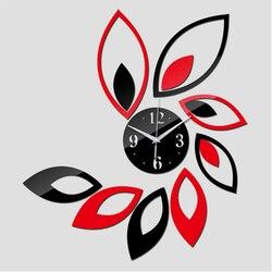 2018 nowe kwarcowe zegary ścienne nowoczesny Design Reloj De Pared duże ozdobne zegary 3d Diy lustro akrylowe salon darmowa wysyłka
