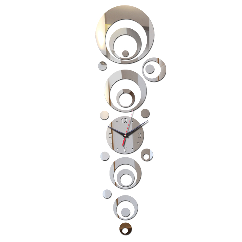 direct selling 2017 time-limited hot diy acrylic wall clock home decor fashion mirror surface sticker living room