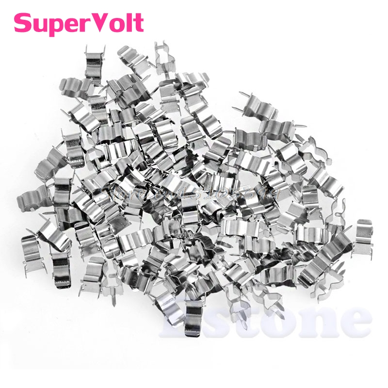 100Pcs 5*20mm Fuse Holder Clips Glass Quick Fast Blow Fuses Holder G08 Drop ship 100pcs set quick blow glass tube fuse assorted kits 5x20mm fast blow glass fuses electrical equipment fuse