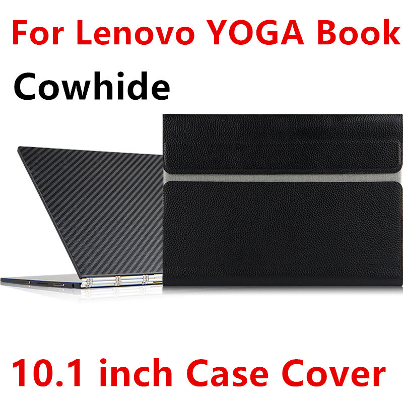 Case Cowhide For Lenovo YOGA BOOK Sleeve Protective Smart cover Genuine Leather Tablet For yoga book 10.1inch PU Protector pouch case for cube i7 book protective smart cover protector leather tablet pc for cube iwork i7 stylus pu sleeve 10 6inch cases cover