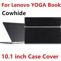 Case Cowhide For Lenovo YOGA BOOK Sleeve Protective Smart cover Genuine Leather Tablet For yoga book 10.1inch PU Protector pouch