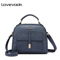 LOVEVOOK Brand Fashion Women Shoulder Bag Female Crossbody Bag High Quality Ladies Handbag Flap With Thread