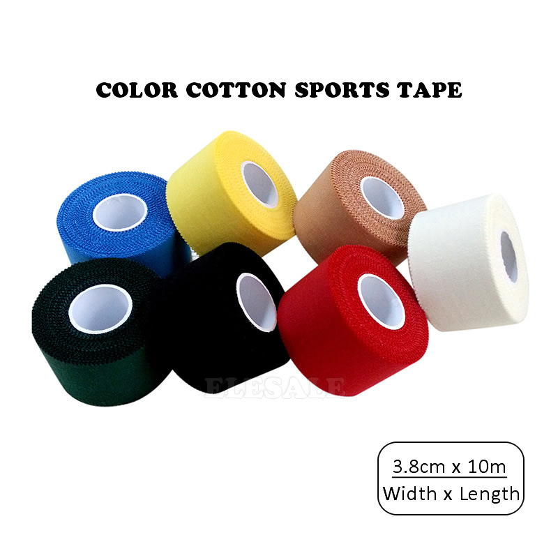 New 3.8cm/10m Color Cotton Cloth Tape Bandages Easy Tear Sports Tape Wound Dressing Home Travel First Aid Kit Supplies