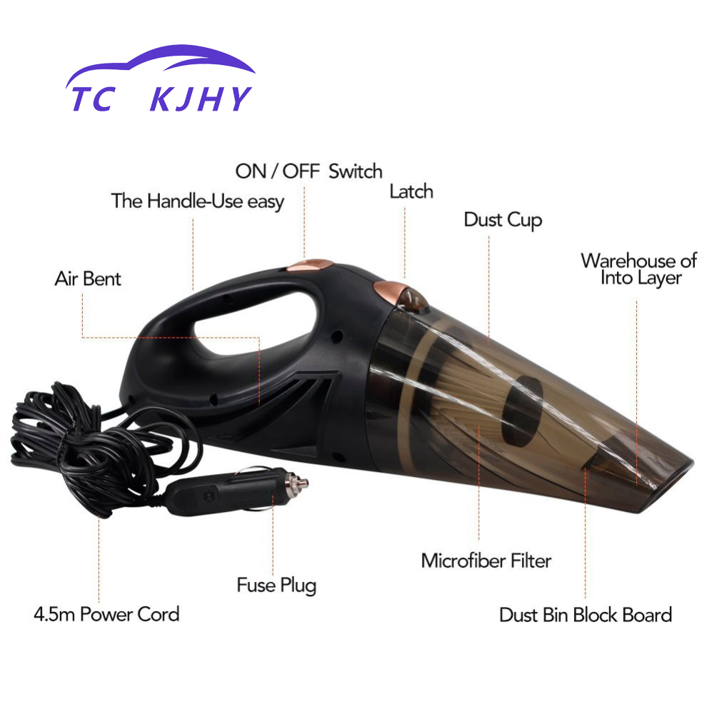 2018 Auto Portable Vacuums Cleaner Dust Clean with Auto Car Vacuum Cleaner DC 12 Volt 120W Handbag 4.8 Cyclonic Wet / Dry