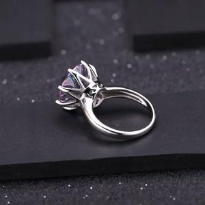 Image 4 - Bague Quartz mystique arc en ciel classique de GEMS BALLET 925 en argent Sterling pour les femmes bagues de fiançailles de mariage bijoux fins