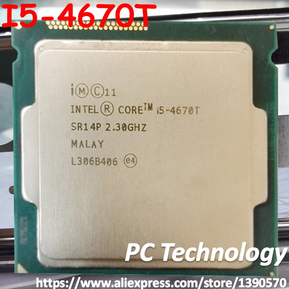 Original Intel core I5 4670T CPU 2 30GHz 6M 45W 22nm LGA1150 Quad core Desktop I5