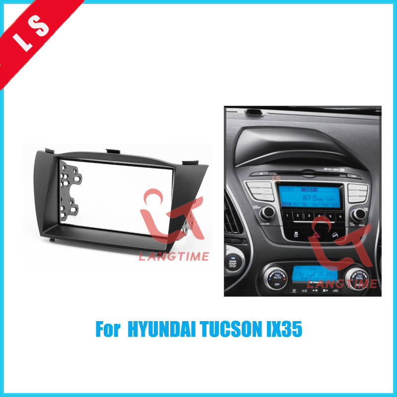 Double Din Car Refitting Radio Fascia Trim Kit for 2010 HYUNDAI TUCSON IX35 2DIN,Install Frame DVD panel Stereo Interface 2 din 2 din car refitting frame panel for jaguar s