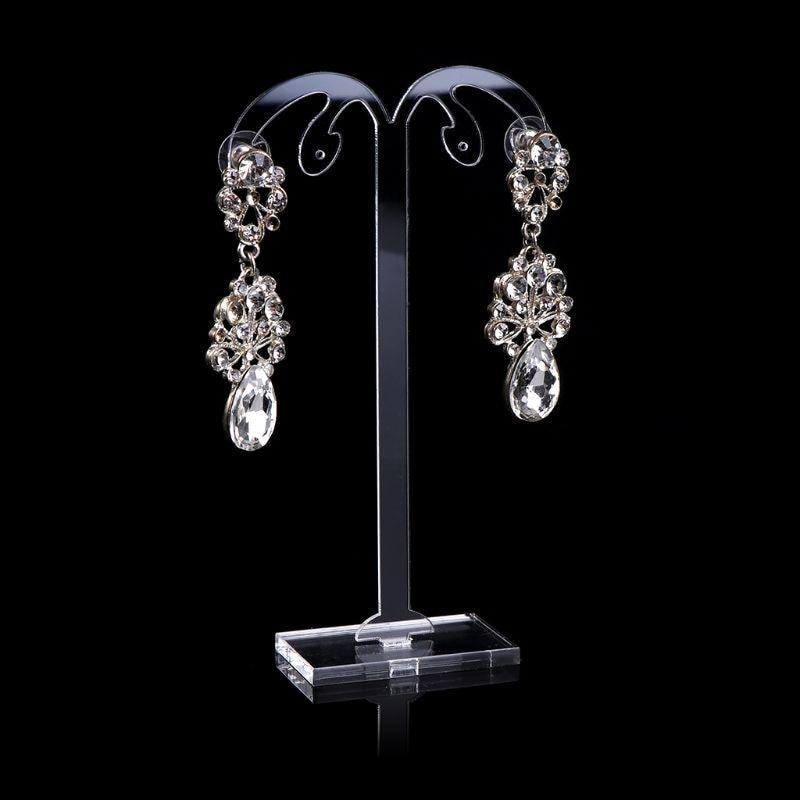 3 Pcs/set Acrylic Earrings Ear Studs Display Stand Earring Jewelry Showing Storage Props Shelf