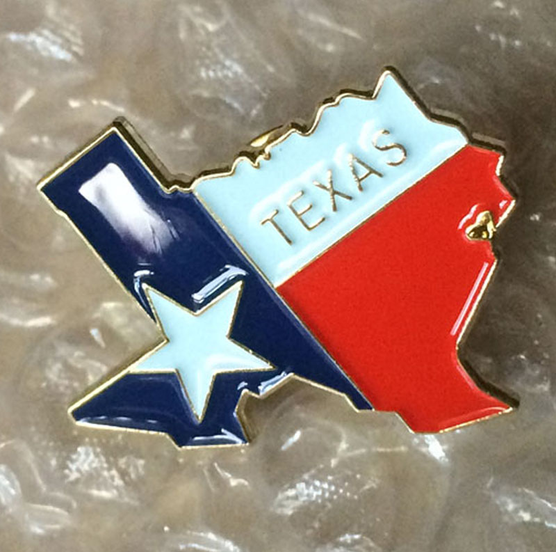 TEXAS Flag Pin Safety Pins Brooches Pins For Women Made By Iron 25.4mm Wide  Nickel Plate And Butterfly Button MOQ100pcs In Pins U0026 Pincushions From Home  ...