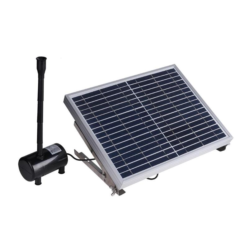 10W 17V Solar Panel Powered Fountain Garden Pond Pool Water Pump Submersible Watering Pump Kit new pretty solar panel water floating pump fountain garden plants pool watering solar pump kit 1set