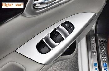 Maggiore stella ABS chrome sportello d'auto Corrimano finestra interruttore decorazione dello scuff protezione piastra di copertura per Nissan SYLPHY 2012-2016