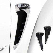 2x стайлинга автомобилей Крыло воздушный поток Fender Гриль Outlet воздухозаборник Накладка для BMW X5 F15 2014 2015 2016 2017 черный/серебристый хром