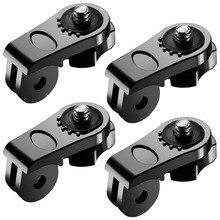 """4 XUniversal Dönüşüm Adaptörü 1/4 """"Inç Mini Tripod vidalı bağlantı için GoPro Aksesuarları için Sony Olympus ve Diğer aksiyon kameraları"""