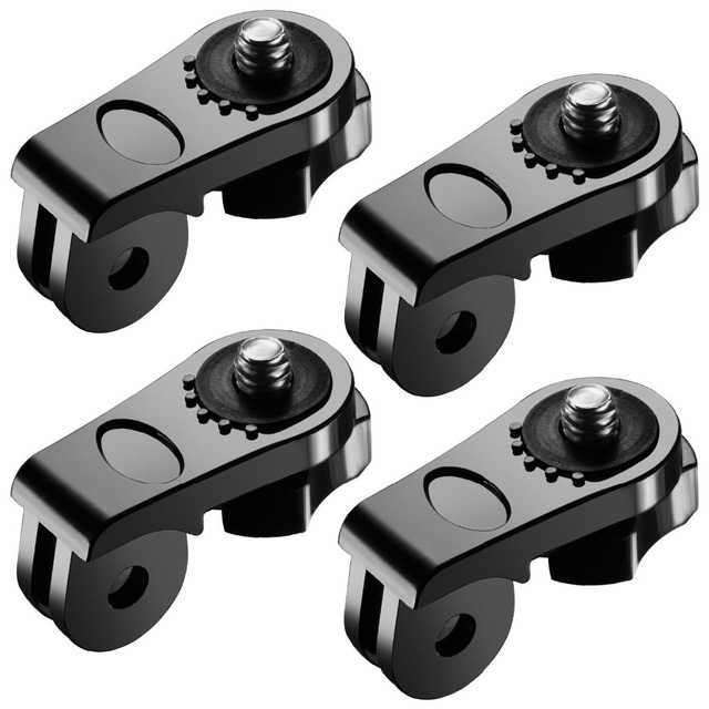 """4XUniversal Conversion Adapter 1/4"""" Inch Mini Tripod Screw Mount for GoPro Accessories for Sony Olympus and Other Action Cameras"""