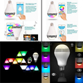 Wireless 12W E27 Bluetooth Remote Control Smart LED Audio Speaker RGB Color Light Bulb Music Lamp for Home Indoor Lighting 2pcs