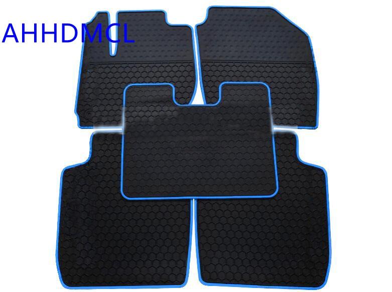 Ahhdmcl Car Rubber Floor Mat Non Slip Mats Feet Rugs For Honda Fit 2017 2016 2018 Left Hand Drive