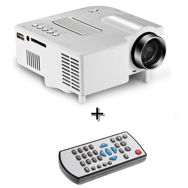 REINO UNIDO Enchufe Portátil Mini Proyector Multimedia Cine Teatro PC y Portátil LED Proyector VGA/USB/SD/AV/HDMI Proyector + Control Remoto