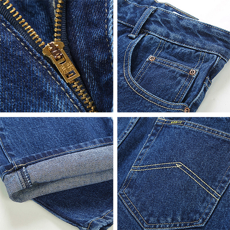Image 5 - Men Business Jeans Classic Spring Autumn Male Skinny Straight Stretch Brand Denim Pants Summer Overalls Slim Fit Trousers 2019-in Jeans from Men's Clothing