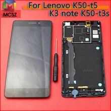 K50 t5 K3 uwaga K50a40 wyświetlacz LCD zespół ekranu dotykowego z ramką do Lenovo K50 t3s części zamienne